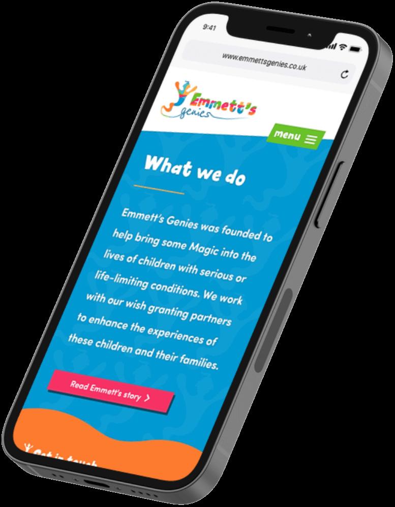 Website design for Emmett's Genies