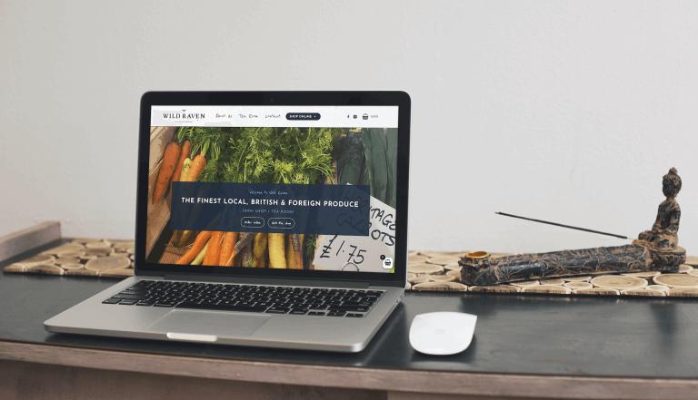 eCommerce website design for Wild Raven