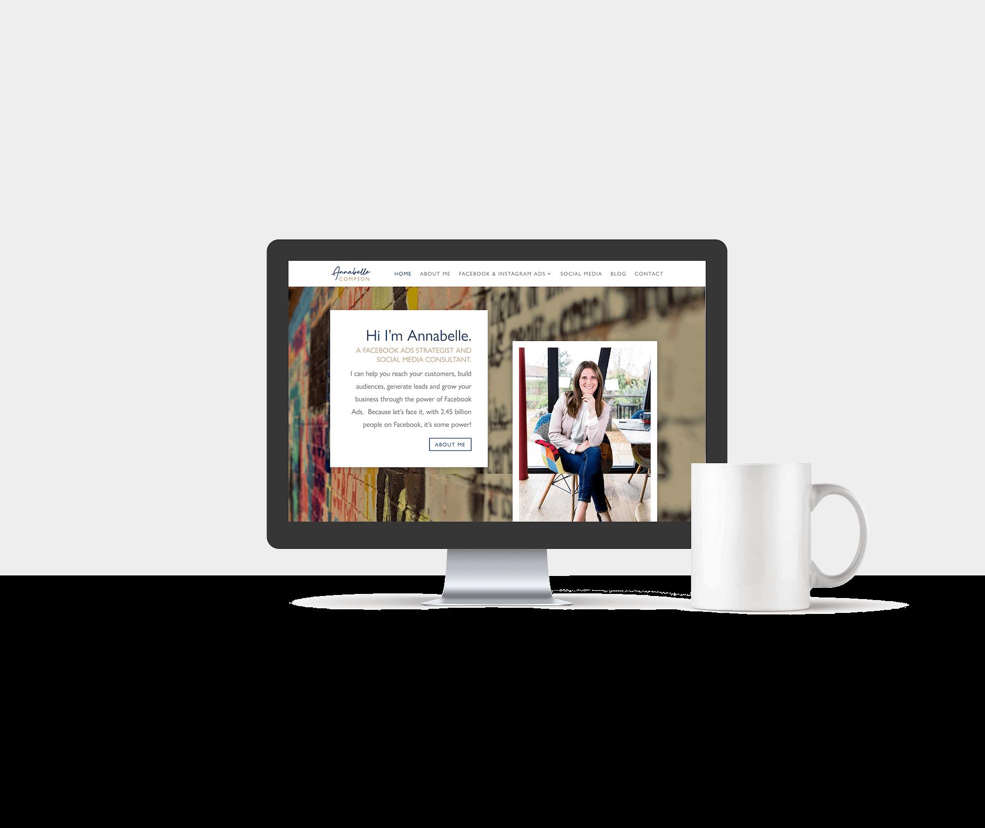 Website design for Annabelle Compson