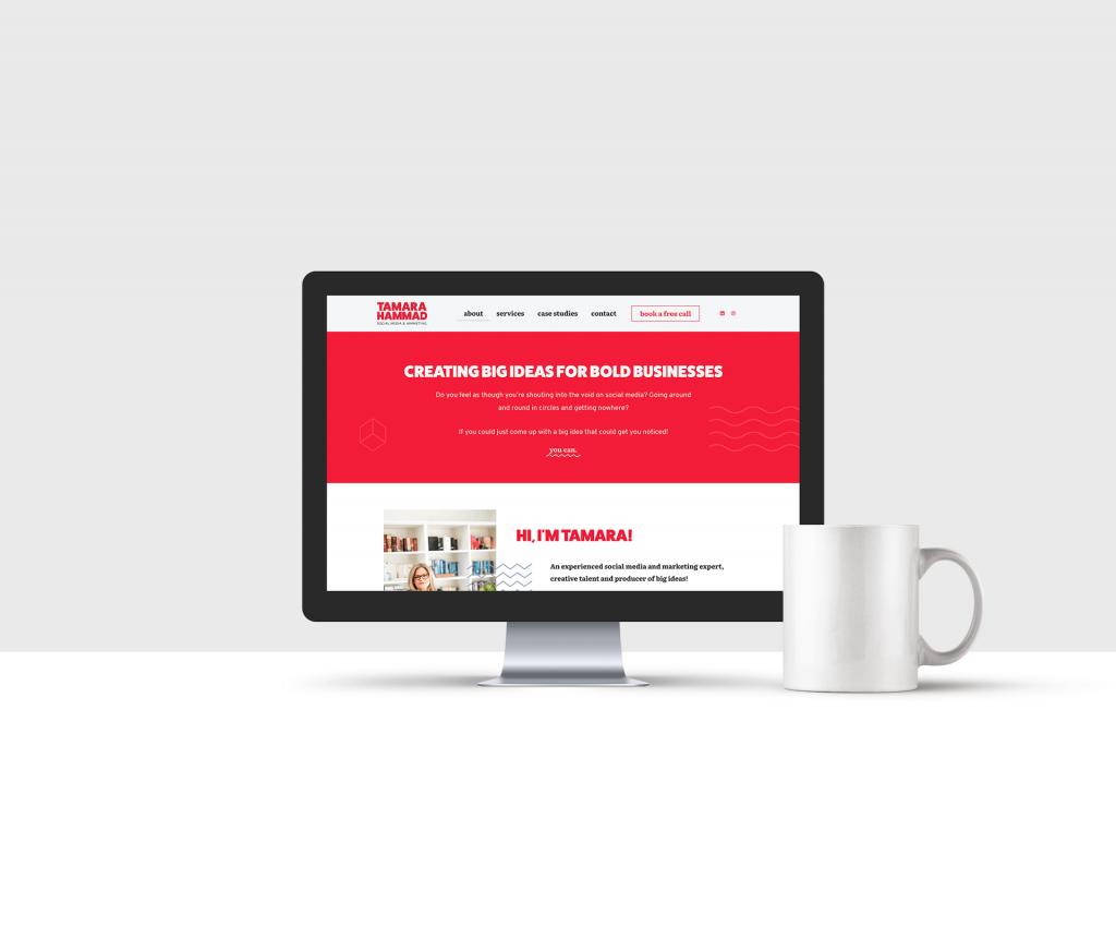 Website design for Tamara Hammad
