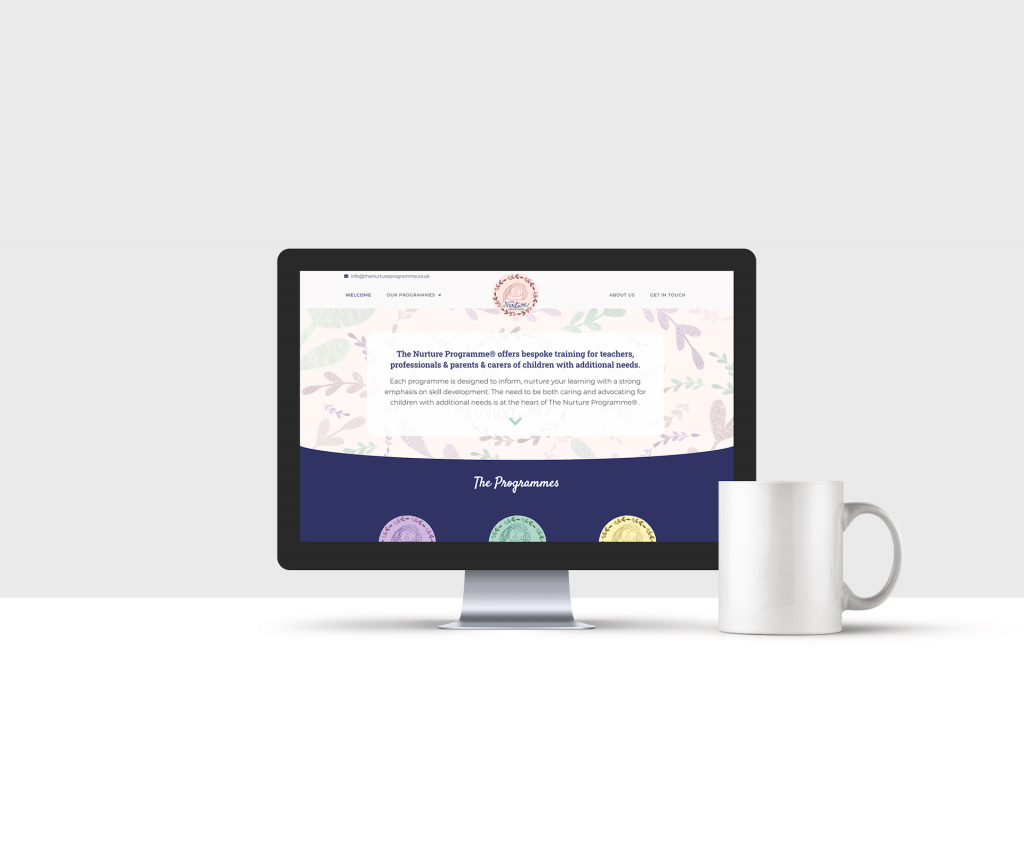 Website design for The Nurture Programme