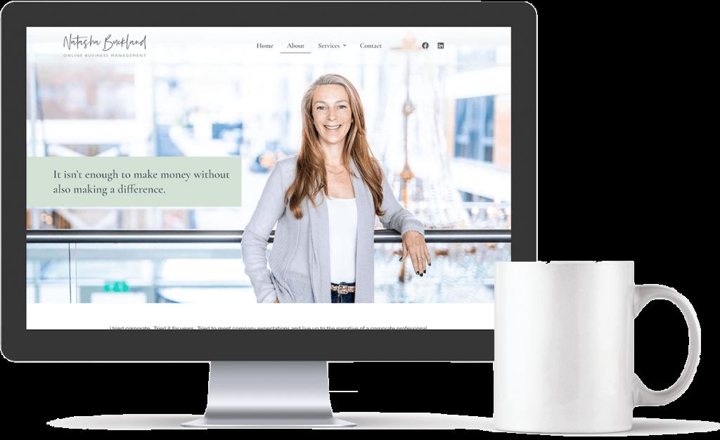 Website design for Natasha Buckland
